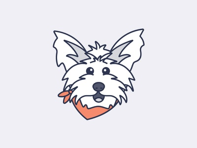 MoJo the Yorkie dog head mojo dog dog emoji yorkshire terrier yorkie