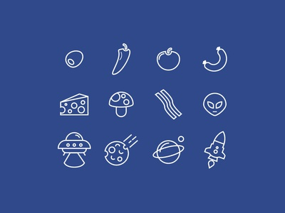 Pizza Planet Website & Icon Set