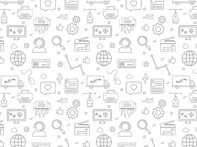 UCI - Icon Pattern websites copier documents digital pattern icon pattern icons