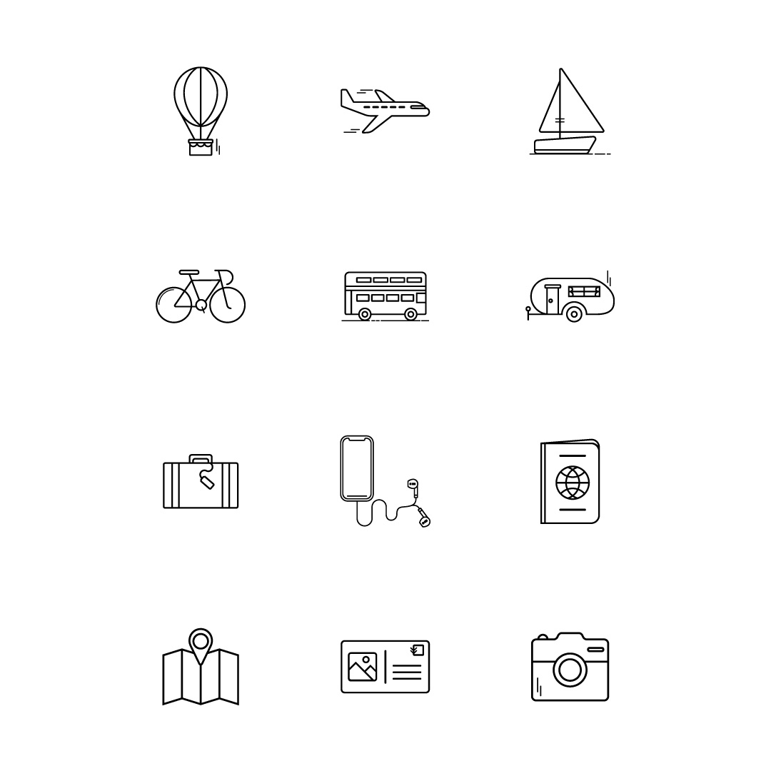 Travel icon set squarelarge2