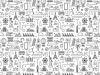 Travel Icon Pattern