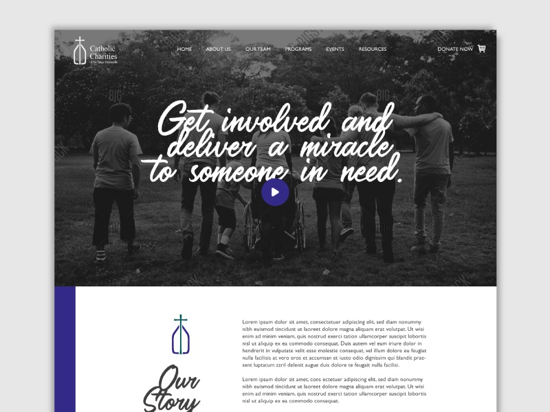 Catholic Charities Website ux ui amarillo texas nonprofit front end design website design catholic charities charity texas panhandle