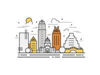 Austin, Texas Doodle