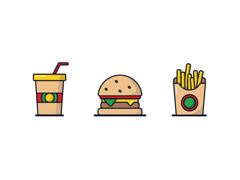 Wattsburger icons dribbble