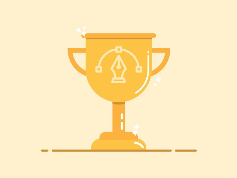 30 trophy dribbble