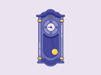 Inktober Day 9   Swing 2d design time clock illustration icon design iconography icon grandfather clock vectober inktober swing