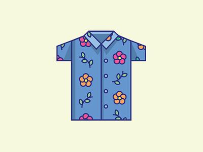 Inktober Day 10   Pattern illustration icon design icon flower hawaiian shirt shirt vectober inktober pattern