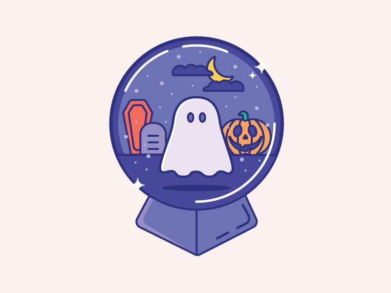 Inktober Day 11 | Snow spooky halloween pumpkin illustration snow ghost vectober inktober snow globe