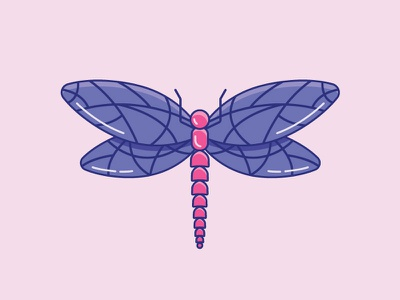 Inktober Day 12   Dragon daily cute graphic design illustrator vector 2d color artist illustration icon design iconography icon vectober inktober bug fly dragon dragonfly