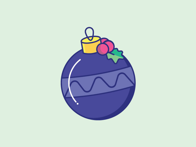 Inktober Day 17 | Ornament daily challenge holiday icon icon design illustration creative vectober inktober christmas ornament