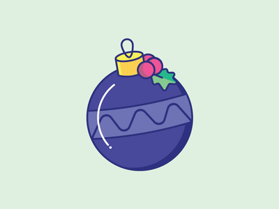 Inktober Day 17   Ornament daily challenge holiday icon icon design illustration creative vectober inktober christmas ornament