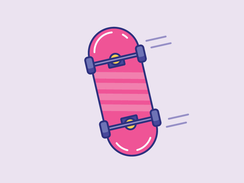 Inktober Day 20 | Tread line color design illustrator icon design icon vectober skateboard skate inktober tread