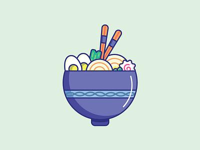 Inktober Day 25   Tasty design tasty soup ramen noodles food icon vectober 2019 vectober inktober ramen