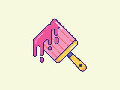 Inktober Day 27 | Coat art icondesigner iconography icon design paint brushes coat digitober vectober inktober pink paint pink icon paint brush paintbrush paint coat of paint