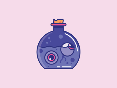 Inktober Day 29 | Injured cute cork jar color vectober halloween spooky jar of eyeballs eyeball eyeballs eyes inktober