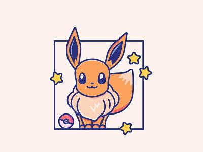 Starter Pokemon Series anime cute flat icons design colors digital illustration video games dratini oddish clefairy eevee vulpix pikachu pokemongo fan art characters illustrations pokemon icons