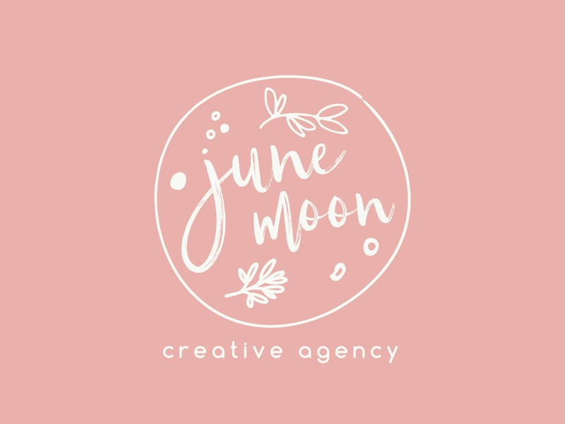 June Moon Creative Agency | Logo ui branding design logo