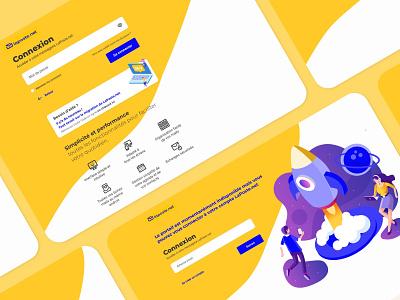 LaPoste.net | Sign in sign in form flat website design website web la poste ui ux design colors