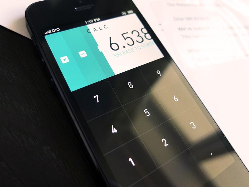 Calc iphone ios calculator app flat design ui ux colorful key buttons