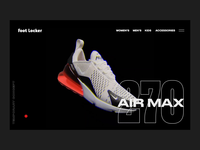 Foot Locker Exploration branding website concept fortnight webgl 3d after effects nike air max nike shoe blender b3d design