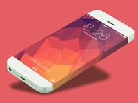 iPhone 6 Infinity mikleo ios7 ios iphone infinity psd giveaway flat color fff ios 7 iphone6