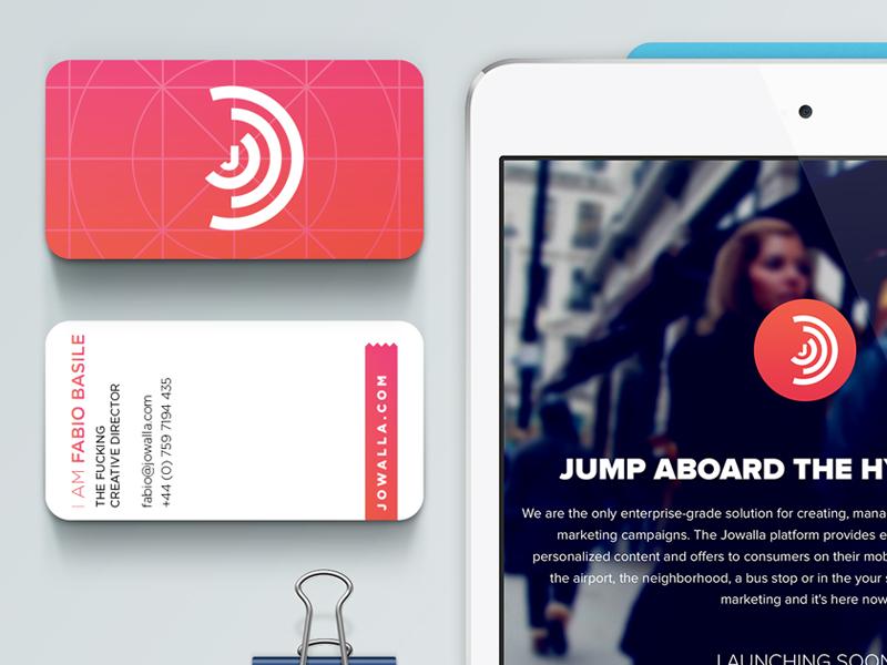 Jowalla jowalla website ios white brand design logo flat ios7 business cards