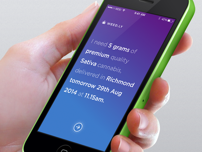 Weed delivery service weed iphone ios ui ux design legal cannabis