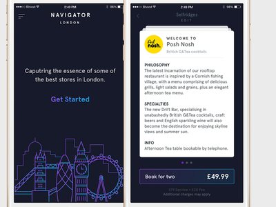 Navigator - London watch clean ios startup london food navigator