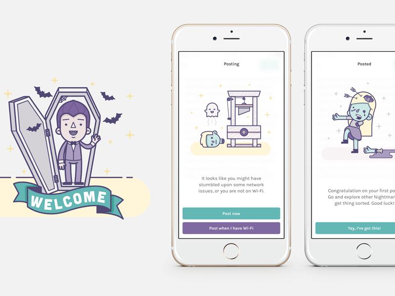 Nightmares mikleo fffabs iphone clean illustrations design app ios