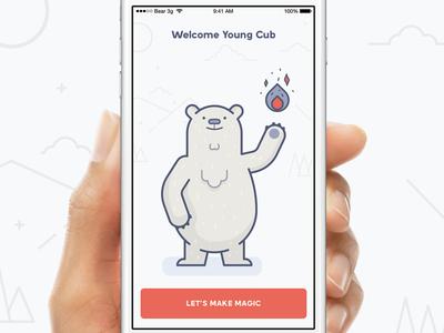 Bearcub mikleo fffabs iphone clean illustrations design app ios