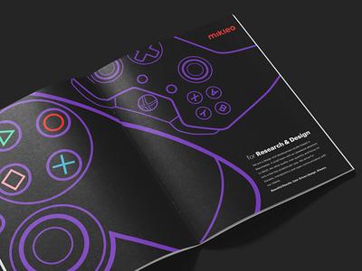 Lookbook design xbone ps4 games mikleo fff brochure book print design lookbook