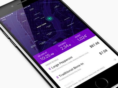 Dropza 🍕 fff hire ux ui ios app delivery drone trump pizza