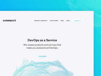 somework 💼 web gradient mikleo fff blue clean devops ops design work