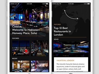 VIP Restaurants posh gold hire fff mikleo startup london restaurants vip osx ios