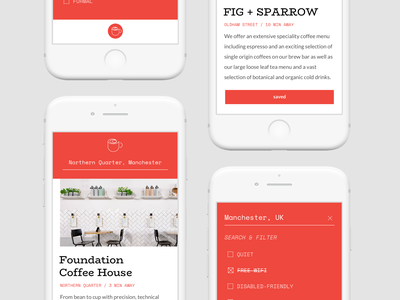 GIVEAWAY Local.Coffee ☕️ Mobile web mikleo ux ui search fff minimal local coffee clean brutalist