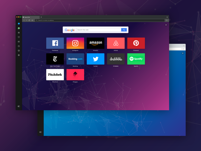 Opera web vossier ui teach simple opera mac learning learn browser background fff