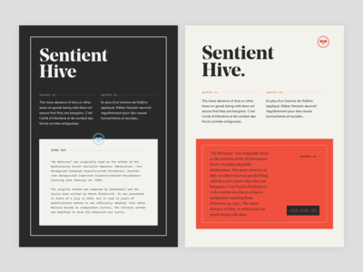 SentientHive minimal cryptocurrency typography branding london ui ux designer hire fffabs