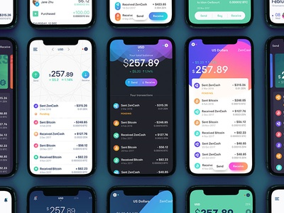 Crypto Wallet fortnight ux ui iphonex ios design hire coin bitcoin cryptocurrency crypto