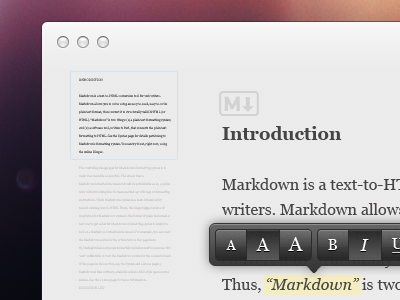 Markdown Editor markdown editor ui mac custom ux white clean typography cocoa