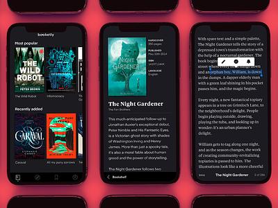 Booketly Updated app typography iphonex design ux ui ios reading books