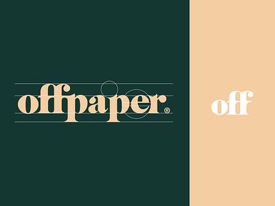 offpaper Logo startup london manchester art type hiring brand agency branding fff typography clean illustration vector logo