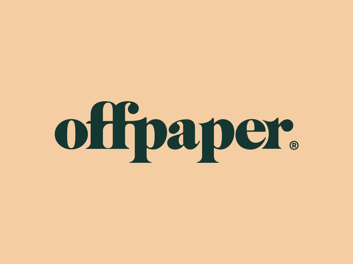 offpaper Logo startup london manchester art type hiring brand agency branding fff typography clean illustration vector logo
