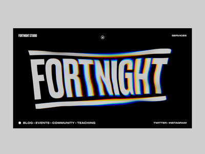 Fortnight Concept 3d webgl wave website web ui  ux typogaphy motion promo interface interaction homepage grid concept design after effect cinema 4d cinema blog art animation