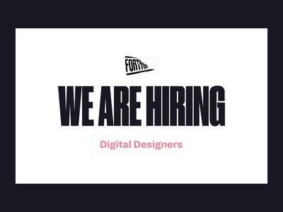 We are Hiring 👩💻