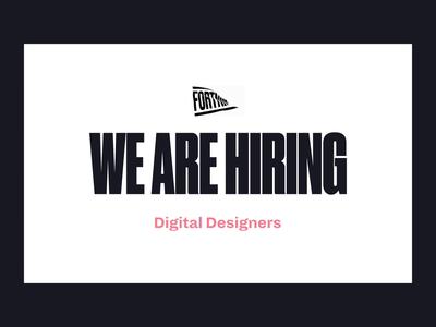 We are Hiring 👩💻 hire design branding logo app web ios ui apply cv job work after effect animation designer recruitment recruit hiring fortnight