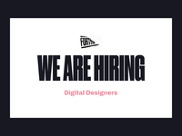 We are Hiring 👩‍💻