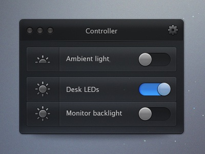 Light Switch osx ui ux dark arduino cocoa dev test custom nodejs node psd