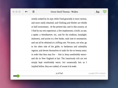 Readmill OS X [.sketch]