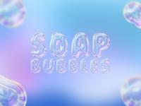 Soap Bubbles Text Effect Mockup