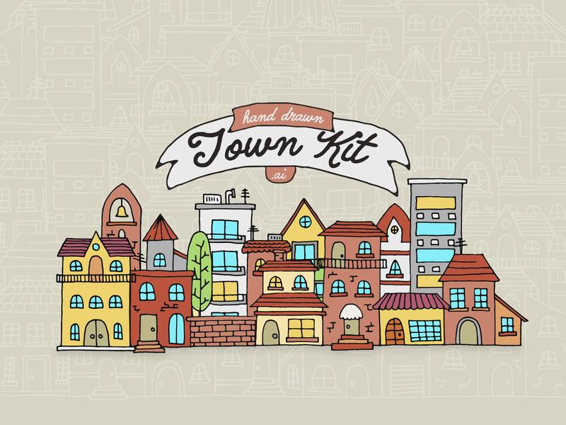 Hand Drawn Town Kit